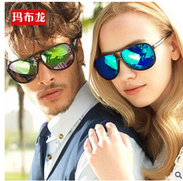 Wholesale In the summer of the latest men s leisure ladies sunglasses color film retro fashion sunglasses sunglasses big five glasses color opti