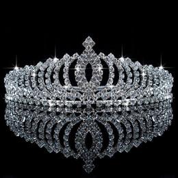 2016 Sparkling Rhinestone Tiaras Wedding Flower Girl Crowns Girls' Head Pieces In Stock Wedding Accessory Veils Tiaras Formal Occasion