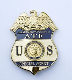 Wholesale American metal badge American Tobacco guns and Explosives Management Department of justice agent copper ATF Badge