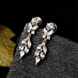 Wholesale 22kt gold jewelry antique turkish china ottoman jewelry White Glass Stone Two Parts Earrings designer inspired jewelry