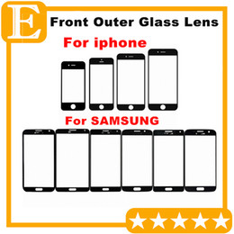 50PCS Front Outer Glass Lens with OCA Film Pre-assemblyed for Samsung Galaxy S3 I9300 S4 I9500 i9505 i337 S5 G900F G900 Refurbishment parts