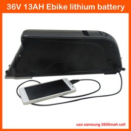 High Quality 36V water bottle ebike battery 36V 13AH lithium Battery Use samsung 2600mah cell with USB Port 500W BMS 2A charger