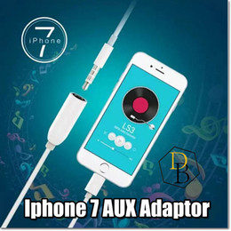 Wholesale Iphone Adapter to mm Plug I7 Cable Aux Converter plus Apple Earphone Connector cm White wire cable For Iphone music