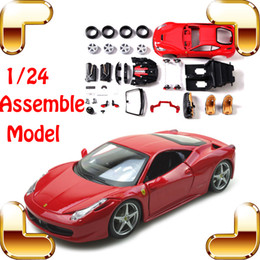 New Year Gift MAISTO 458 F12 EN 1:24 DIY Metal Model Car Roadster Vehicle Model Scale IQ Game Family Work Simulation Toy