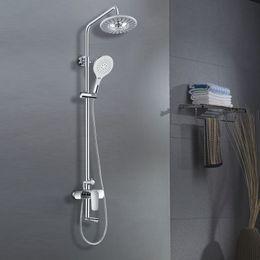 Wholesale double Shower head SPA Water saving Round Spray Rain Top Rain Shower Heads Hand held Shower Head Bathroom Accessories Set
