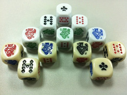 Acrylic Poker Dice 6 Sided Special Dices Game Dice Funny Drinking Game Good Price High Quality #S18
