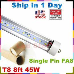 Wholesale led tubes ft single pin FA8 t8 led tubes W Lm LED Fluorescent Tube Lamps V Stock In USA