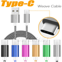 Wholesale Micro USB Cable Colorful Braided V8 Cable Data Sync Cable FT M For Type C Cable Apple New Macbook Inch
