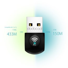 Wholesale dodocool AC600 Dual Band Wireless External USB Adapter Wi Fi Dongle GHz Mbps or GHz Mbps DC23