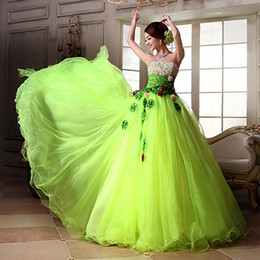 The new 2016 color formal Sweetheart Quinceanera Dresses exquisite handmade flower beaded long Quinceanera dress sweet adult dress plus size