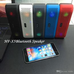 Wholesale HF X5 Bluetooth Speaker Mini Stereo Portable Wireless Speaker Stereo Subwoofer Bulit in Handsfree TF Card USB Disk Pills Pulse Loud Outdoor