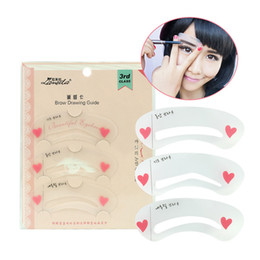 Lameila 3 Pcs set 3rd Class Eyebrow Stencils Card EVA Eyebrows Drawing Guide Korean Drama Heroine's Eye Brow Shaping Template Tools