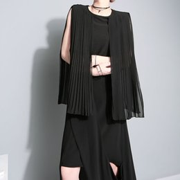 2016 new summer fashion elegant color Pleated Chiffon shirt sleeveless top 1308 female