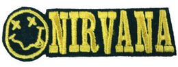 Wholesale 2 quot Nirvana Music Band EMBROIDERED IRON On Patch T shirt Transfer APPLIQUE Heavy Metal Rock gift Punk Badge