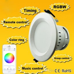 Wholesale New Design RGBW Dimmable LED Downlight WIFI LED Downlight Smartphone With IOS And Andriod Downlight LED Smart LED Light Downlight