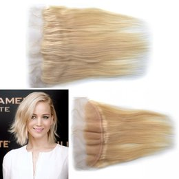 Free Shedding Indian Virgin Human Hair Lace Frontal Closure 613# Color Straight Human Hair Lace Frontals LaurieJ Hair