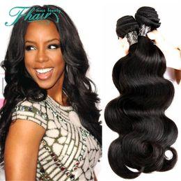 "Peruvian Hair Body Wave 7A Unprocessed Hair 10""-30""Inch Length Body Wave 3 Bundles Machine Double Weft Human Hair"