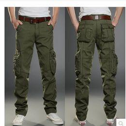 Wholesale-7 Color Size 28-44 Cotton Mens pants Classic joggers Men Casual Pants men's clothing Black Khaki pants Trousers Summer