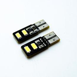 LEEWA 50pcs White T10 W5W 194 168 4SMD 5630 Chip Canbus Error Free Car LED Light Bulbs #4316