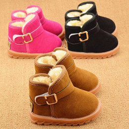 Wholesale 2016 Fashion Winter Baby Kids Shoes PU Leather Child Snow Boots Classic Thinken Outsole Unisex Baby Toddler Shoes Boys Girls Boots Booties