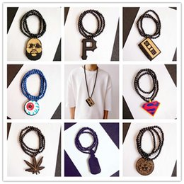 Wholesale 10PCS each style Good Wood Wooden Hip Hop Dancer Goodwood Jewelry NYC High Quality Necklace styles To Choose