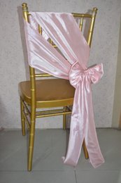 Promotion arcs décorations mariage 2016 Chaise en taffetas rose pour le mariage Décorations romantiques de mariage d'arc Chaise couvrent Chaise Châssis Accessoires de mariage C58