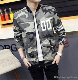 Acheter en ligne Coton ouaté korean veste de baseball-Korean style Lovers Camouflage Baseball coton hoodies Jacket Automne Hiver Hommes Femmes Camo Baseball Jacket Sueurs Casual