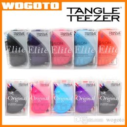 Wholesale Original EliteTangle Teezer Hair Brush Various Color Hair Care Styling Tools Tangle Teezer Detangling HairBrush Comb Salon Styling Tamer