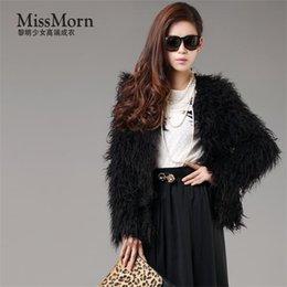 Wholesale Leopard Fur Button Jacket - Faux Fur Coat Mix Color Long Sleeve Female Shaggy Jacket Winter Fashion Slim Long Fur Beach sheep wool Parkas