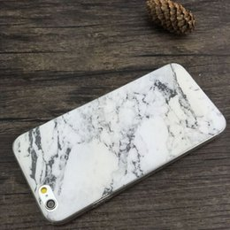 Wholesale 1pcs Silicone Slim Granite Marble Texture Soft TPU Gel Back Case Shockproof anti knock Phone Cases For iphone s s plus