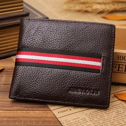 Wholesale Hot sell Fashion Simple Open Leather Wallet High end Sof Cortex Iron Angle Side Men s ultra thin Leather Wallet