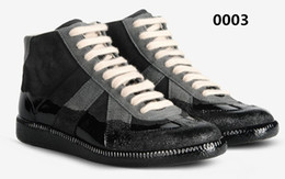 Wholesale All Brand Newest Stylish Mens Patchwork Material Maison Martin Margiela Spray Paint Shoes In Low Price