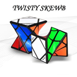 2017 Newest arrival magic cube QIYI heteromorphism magic cube puzzle TWISTY SKEWB magic cube educational learning toy for Adult & Children