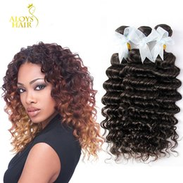 Brazilian Deep Wave Curly Hair Weaves Bundles Unprocessed Peruvian Malaysian Indian Mongolian Deep Curly Human Hair Extensions Natural Color