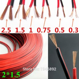 Wholesale RVB Square Copper Red with Black color cable parallel to the outer wire LED Speaker Cable Electronic Monitor power Cord