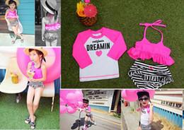 2016 Baby Beachwear GIRL Hot Pink Fashion Swimwear Longsleeve sun-protective clothing Child Swimsuit BABY Girl Rash Guard Kid Swimwear