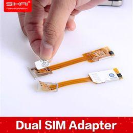 Wholesale Free Case Dual SIM Adapter Magic Sim Card Hub Dual Sim Cards Holder For iphone plus NO Jailbreak No Software