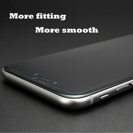 2017 iphone vidrio de alta calidad La alta calidad endureció el protector de cristal de la pantalla para el iphone 7 / 7plus 6 / 6s 6plus / 6s más 5 / 5s anti rasguño antideslumbrante ULTRAVIOLETA-prueba con el empaquetado económico iphone vidrio de alta calidad