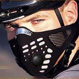 Wholesale WOLFBIKE Mascaras Ciclismo Anti pollution Cycling Training Mask Bicycle Sport Men Face Mask MTB Bike Air Solf Mask Cover BE107