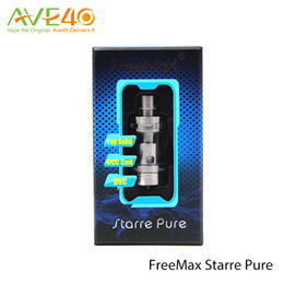 Wholesale Authentic Freemax Starre Pure ml Ceramic Tank First Ceramic Cover Coil Top AFC System Never Leak Design Silver Link