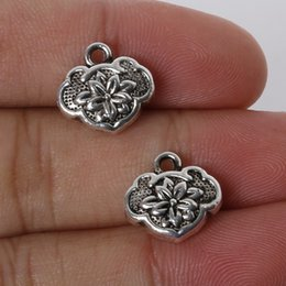 Free shipping New 5pcs 12x13mm Zinc Alloy Antique Silver Lucky Lock DIY Charms Pendants jewelry making DIY