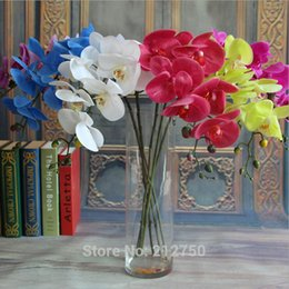 Wholesale High quality Express butterfly orchids big size hand feeling phalaenopsis artificial flowers
