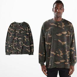 C4 Hip Hop Camo Tee Long Sleeve T-Shirt Camouflage Lovers T Shirts For Women Men Rap Streetwear S-3XL BF0391CJ