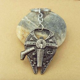Wholesale Movie Jewelry Hot style Star Wars Key Chain Han Solo s Millennium Falcon ship barkey bottle opener Keychain for dealers