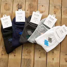 Wholesale 2016 news independent packing men diamond socks Leisure men s socks best sell cotton