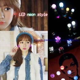 Fashion Big Sales 9 Pair Unisex Light Up LED Bling Ear Studs Earrings Accessories For Party Xmas