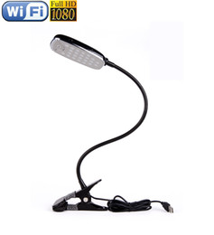 Wholesale Spy camera P HD Night Vision desk table lamp Model Hidden Spy Cam T99 IP Network DVR Camcorder DV spy listen device
