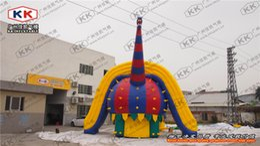 Wholesale Inflatable dry beach Sport Game Giant Dinosaur Shape Inflatable Water Slip Slide