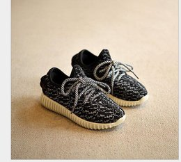 Wholesale Kids kanye west style Running Shoes Sneakers New Kanye West boost black grey Baby Fashion sport Shoes Size factory sale