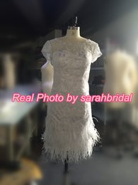 Wholesale Two Piece Feather Wedding Dresses with Greek Goddess Style Detachable Skirt Burlesque Gatsby Vintage s Bridal Gowns For UK Brides in